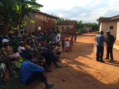 Village outreach eye care Rwanda