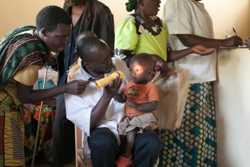 Child eye screening Rwanda