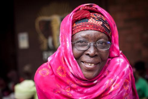 Rwanda lady in reading glasses