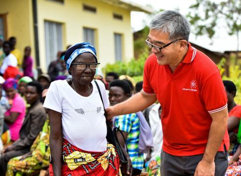 James Chen Rwanda eye care outreach