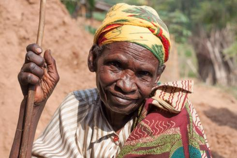 Elderly Rwandan lady